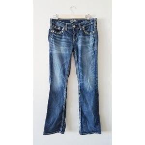 Dark Wash Aiko Mid Slim Bootcut Silver Jeans 29